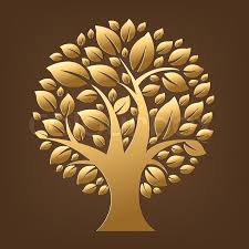 gold tree stock vector colourbox