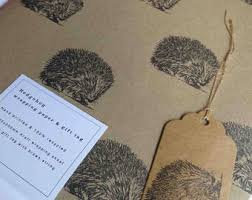 hedgehog wrapping paper hedgehog gift etsy