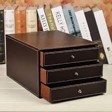Desk Organizer Box 3 Tier Desktop Storage Box Office Filing Tray File Cabinet