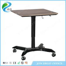 standing desk on wheels china height adjustable gas lifting laptop standing desk with wheels
