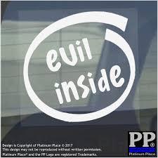 evil inside window car van sticker sign vehicle halloween scary