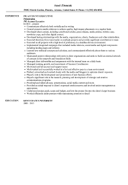 Advertising Account Executive Resume Public Relation Executive Resume Public Relations Agency Sample