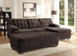 Microfiber Sectional Sofas by Homelegance Brooks Sectional Sofa Set Chocolate Champion