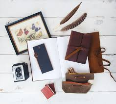 rustic pair our leather bound books meet peg and awl the blue sky