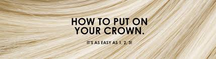 How To Make A Halo Hair Extension by Putting On Your Hidden Crown Halo Shaped Extension U2013 Easy As 1 2
