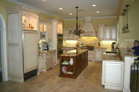 distressed white kitchen island white wooden cabinet with brown wooden kitchen island placed on the