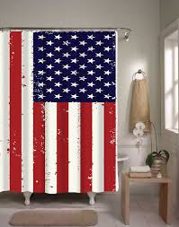 country american flag shower curtain home design and decoration