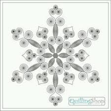 quilling snowflake pattern arctic snowflake pattern quilling