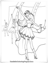 barbie and 12 dancing princesses coloring pages realistic