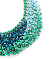 cara couture cara couture jewelry blue multi overlapping strand bib necklace