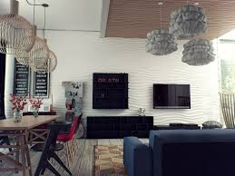 house sweet combination living room and dining room with contempo