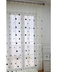 popular curtains polka dot white living room sheers curtain