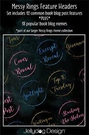 Book Blog Memes - book blogger social icons spectrum jellydog design