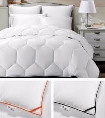 Chezmoi Collection White Goose Down Alternative Comforter Grey Down Comforter