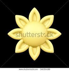 3d sunflower frame on background illustration stock illustration