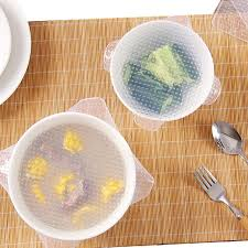 silicone cuisine bowl cling 1pcs reusable square silicone bowl cover food
