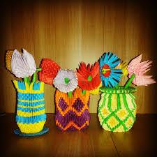 Origami 3d Flower Vase Madushi U0027s Crafts March 2015