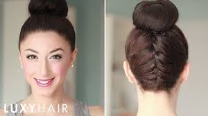 images of black braided bunstyle with bangs in back hairstyle upside down french braid bun style youtube