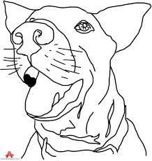 dog outline face drawing free clipart design download
