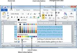microsoft word how to capture text color in an office document