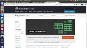 Wordpress Tables Installation U0026 Configuration Of Table Generator Wordpress Plugin