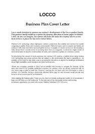 Business Plan Cover Letter Example The Sample Plans Free Form Cmerge
