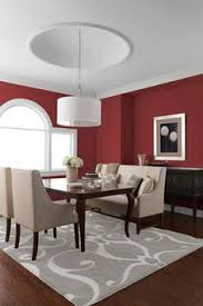 Dining Room With Multiple Earth Tones On Walls And Ceiling - Earth colors for living rooms