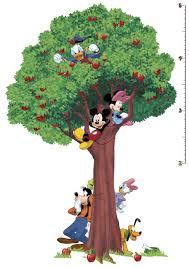 giant tree mickey and friends growth chart stickers for kids giant tree mickey and friends growth chart