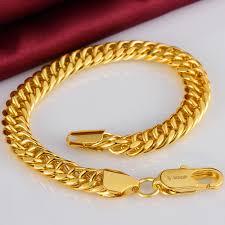 mens gold hand bracelet images Bracelet big chunky 20cm 9mm cuban link snake chain hand bangle jpg