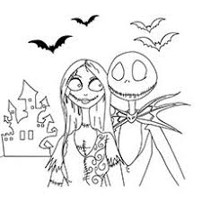 top 25 nightmare before coloring pages for your