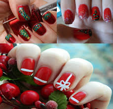 easy christmas nail designs nail art design