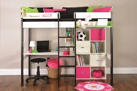 loft bed with desk walmart metal futon bunk beds wit stairs slide