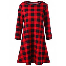 plaid dresses for women cheap cute womens dresses casual style