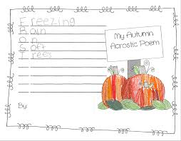 dancing in our teacher shoes autumn acrostic poems