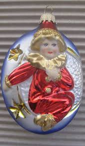 lauscha germany blown glass harlequin child christmas ornament