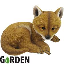 buy garden ornament ella the fox at home bargains
