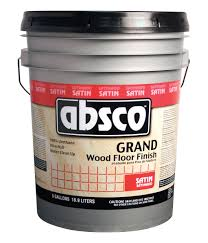 1 gallon container of absco grand satin wood floor finish
