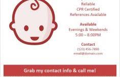 babysitting flyers template free cerescoffee co
