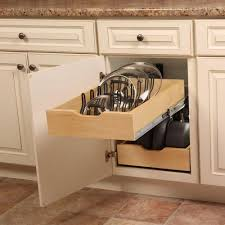 kitchen pot pan lid holder cabinet pull out drawer organizer cover