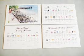 destination wedding itinerary wedding itinerary wedding welcome cards bridesmaid groomsmen