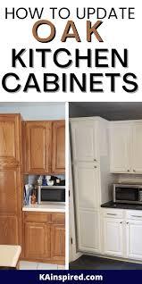update oak kitchen cabinets how to update oak kitchen cabinets kainspired