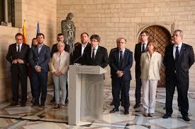catalonia referendum catalonian government u0027de facto u0027 suspended