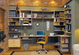 an organized home office done with freedom rail shelving from