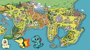 Sinnoh Map Kanto And Johto In Omega Ruby Pokemon Omega Ruby And Alpha