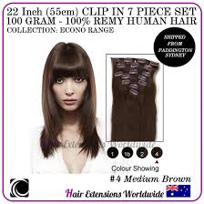 Human Hair Extensions With Clips by 22 U201d Clip In 100 Remy Human Hair Extension 7 Piece 100g Various