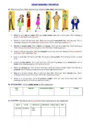 english worksheets describing people worksheets page 76