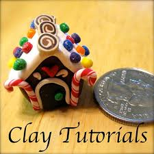 how to make a miniature gingerbread house ornament out of