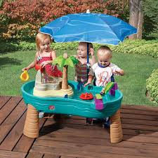 step 2 water table with umbrella step2 splish splash seas water table with umbrella baby