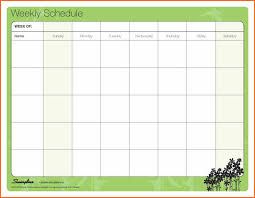 weekly work schedule template schedule of works template blank