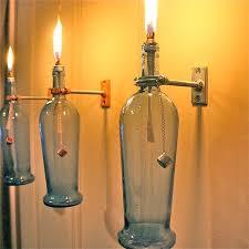 Wine Bottle Light Fixtures Glass Trashthetic